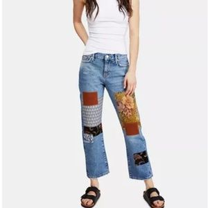 NWOT! ! We The Free Size 27, patch ankle pants
